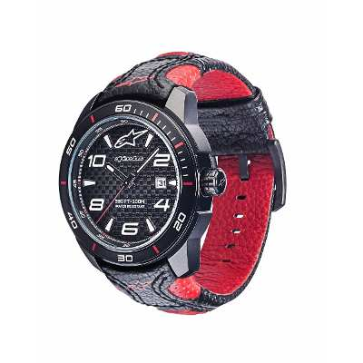 Alpinestars Reloj Pulsera Alpinestars Tech Watch Black Leather Pre-venta