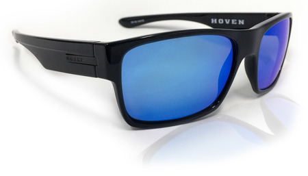 Sunglasses - Hoven Vision FUTURE Black Gloss / Tahoe Blue Polarized