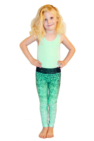 Leggings - Okiino Emerald Scales - Minnow Leggings