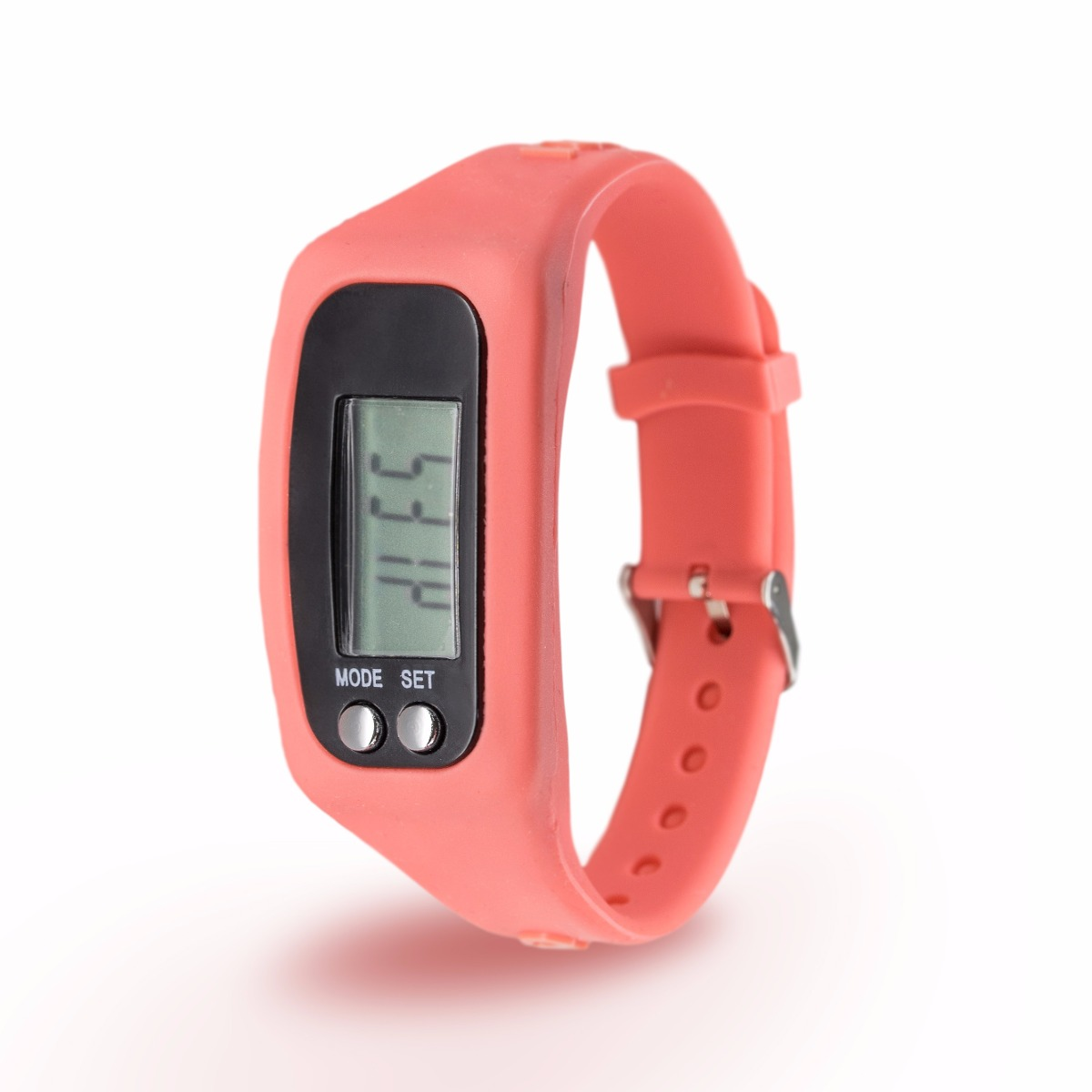 Rubberchic Reloj Digital Con Podometro Rubberchic Younger Coral