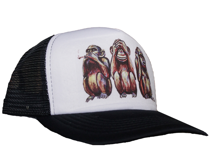 Viseras Planas - Shut'Em Clothing Gorra Trucker Wise Monkeys