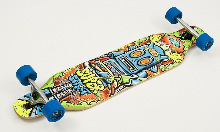 Lab Skateboarding Longboard Completo SuperStart Robot - Ruedas LAB 70mm.