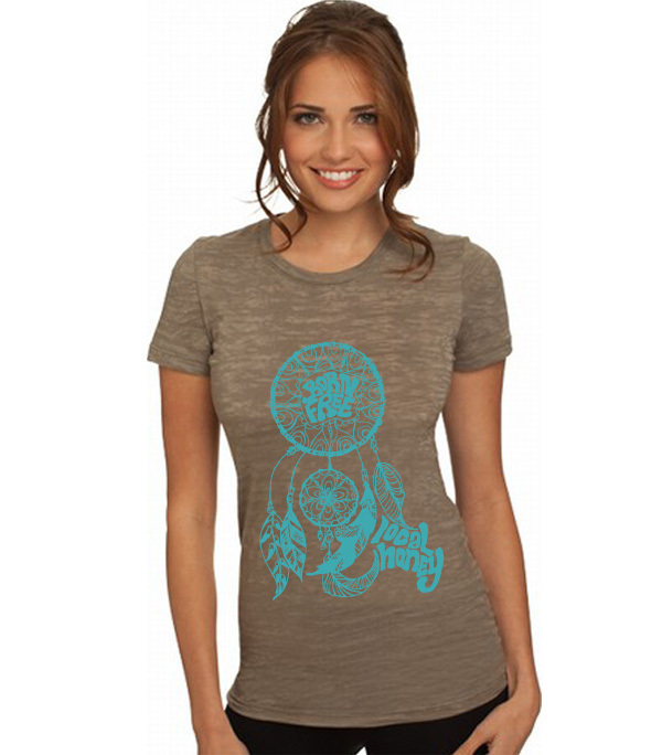 Tees - Local Honey Designs Dreamcatcher Burnout Tee
