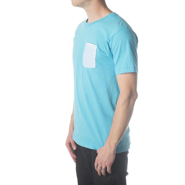 Tees - Concrete Coast Striped Pocket Tee