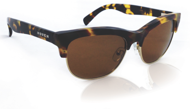 Sunglasses - Hoven Vision EDDY Animal Tort / Brown Polarized