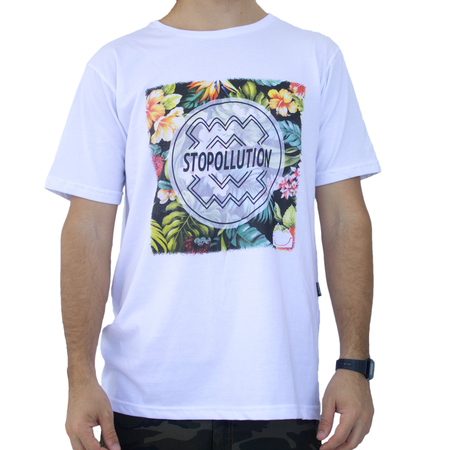 Mangas Cortas - Stopollution Remera Flowers