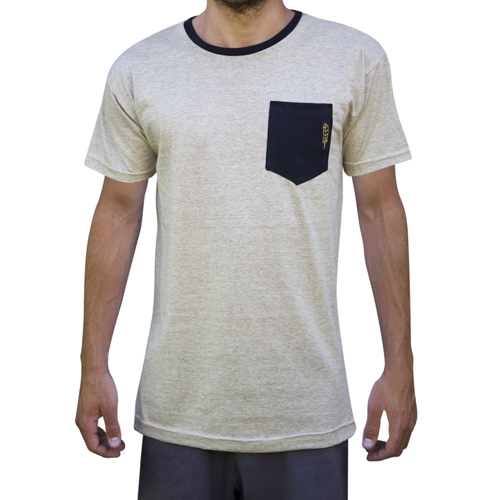 Mangas Cortas - Niveria Remera Goldenblack-Pocket