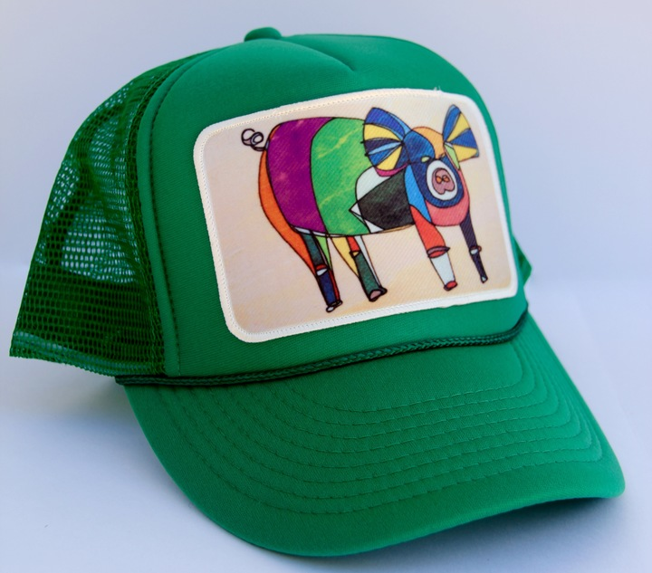 Ball Caps & Snapbacks - Katherine Homes Women's Pig Green Hat