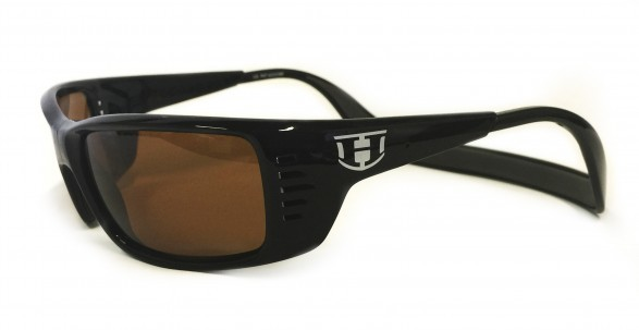 Sunglasses - Hoven Vision MEAL TICKET Black Gloss / Amber Polarized
