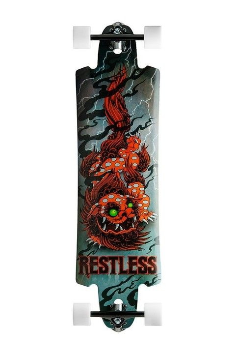 Restless Longboards Furabu Drop-Through Deck Longboard - Deck only