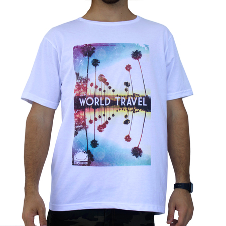 Mangas Cortas - Stopollution Remera World Travel