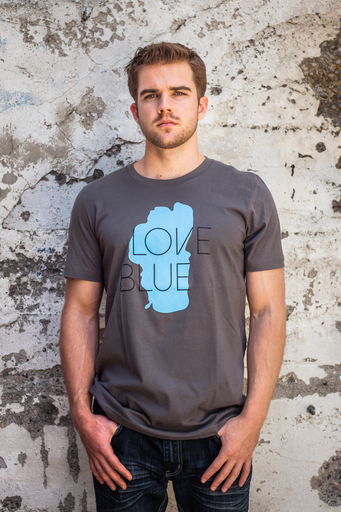 Tees - California 89 MEN'S SHORT SLEEVE LOVE BLUE T-SHIRT