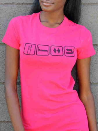 Tees - Flipside Fresh EAT SLEEP RIDE REPEAT (LADIES)