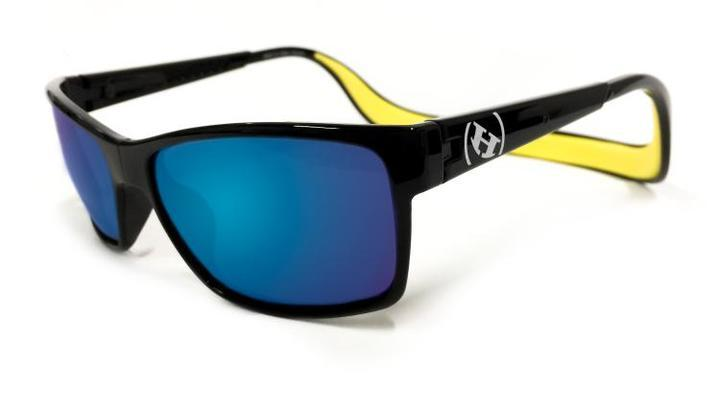Sunglasses - Hoven Vision MONIX Black Gloss - Yellow - Polarized