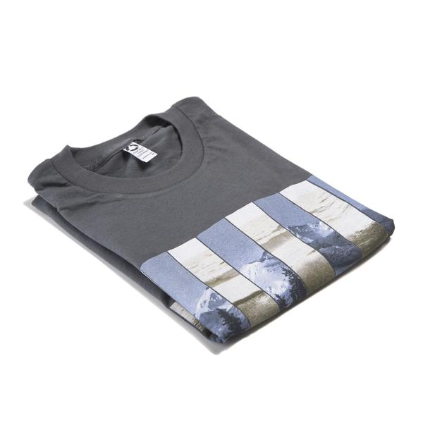 Tees - Concrete Coast Mountain Wave Tee - Dark Gray