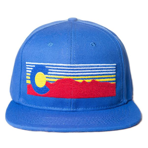 Ball Caps & Snapbacks - Concrete Coast Mt. Evans Colorado Hat - Blue