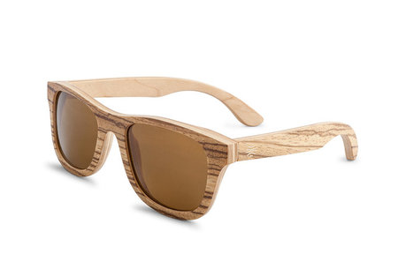 Bosky Optics Dundee Zebrawood Sunglasses Polarized Brown Lenses