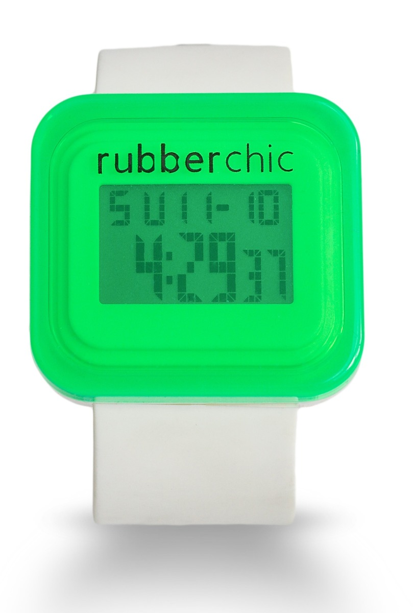 Relojes - Rubberchic Reloj Box White And Green
