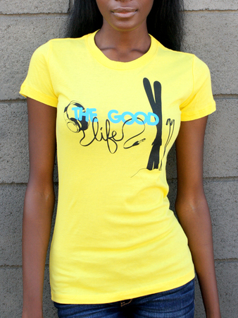 Tees - Flipside Fresh The Good Life Skier - Ladies