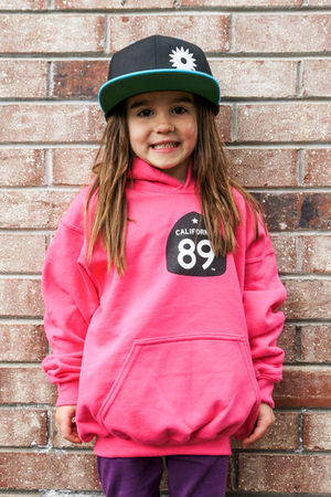 Hoodies - California 89 KID'S SWEATSHIRT HOODED SHIELD ON FRONT