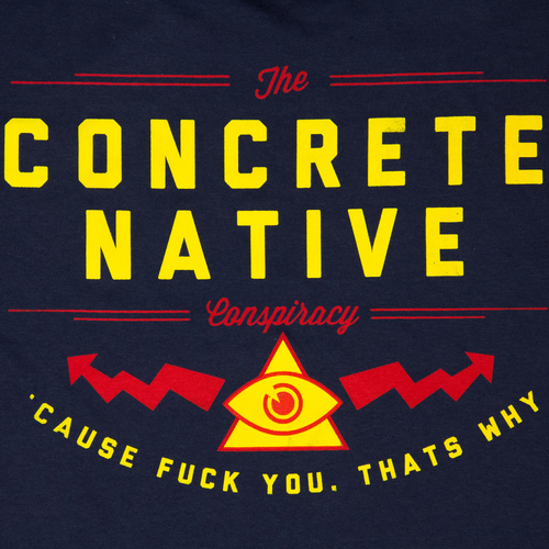 Tees - Concrete Native Check Yo Self Tee • Organic