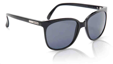 Sunglasses - Hoven Vision SKINNY LEGS Black Gloss / Grey Polarized