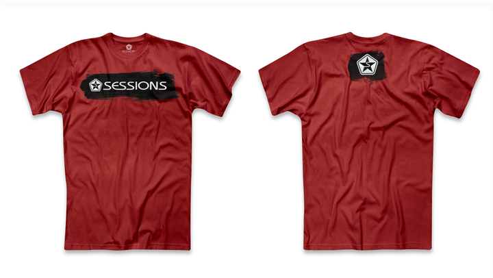 Mangas Cortas - Sessions Remera Brush