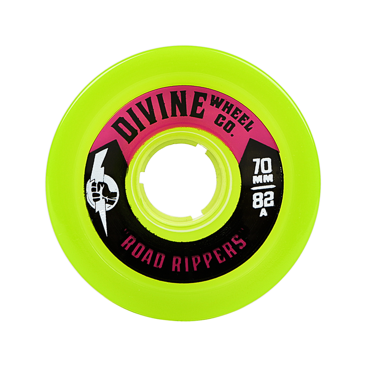 Wheels - Divine Road-Rippers-70mm-Lime-Green