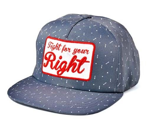Viseras Planas - Fight For Your Right Gorra Andrés