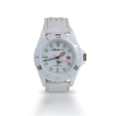 Relojes - Rubberchic Reloj Basic Leather White