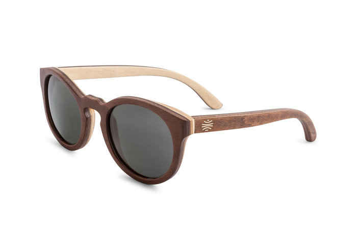 Sunglasses - Bosky Optics Barlow Wood Sunglasses Polarized Grey Lens