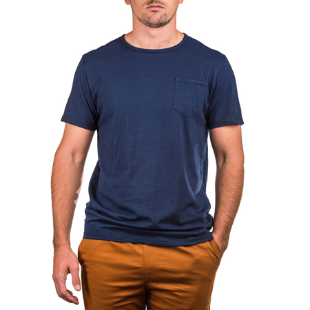Mangas Cortas - Crouch Remera Blue Pocket
