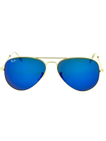 Ray-Ban Lentes de Sol Ray Ban Aviador Large Metal Gold Blue Mirror Ray Ban