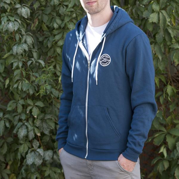 Zip Hoodies - Concrete Coast Patch Hoodie Bay Blue