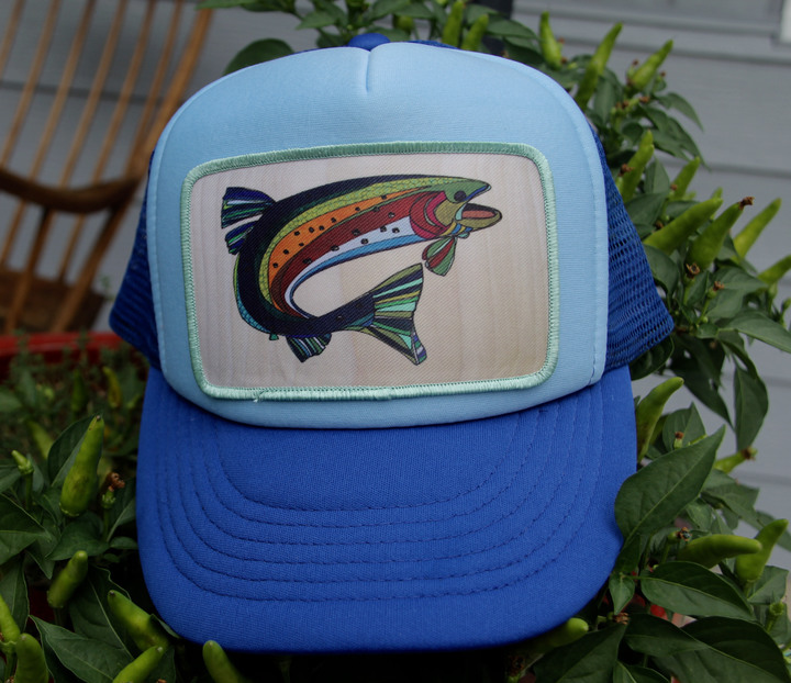 Ball Caps & Snapbacks - Katherine Homes Men's Fish Two Tone Blue