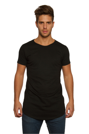 Mangas Cortas - Ziggurat Remerón Long-Fit Negro