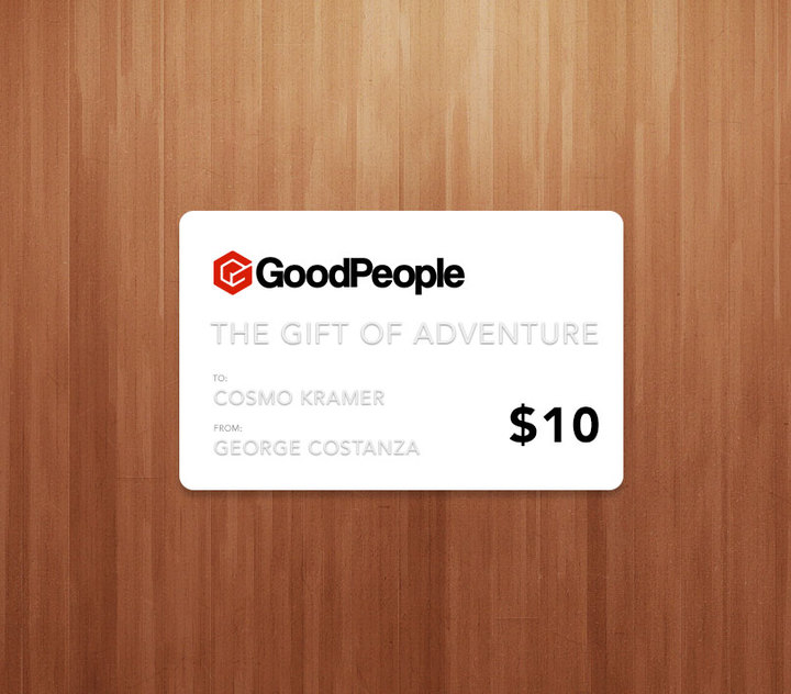 More - GoodPeople $10 GoodPeople Gift Card