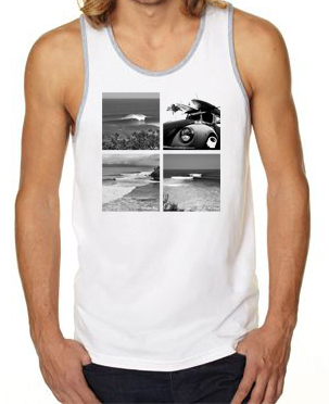 Tanks - Hi Minded Maui Surf Break Tank (white/gray)