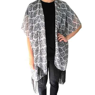 Fight For Your Right Fight For Right Pashmina Corte Poncho Estampada Kimono Triba