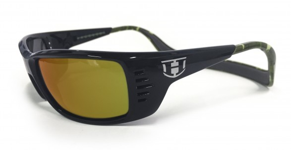 Hoven Vision MEAL TICKET Black-Green Camo / Fire Chrome Polarized