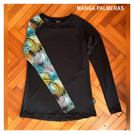 Mangas Largas - Wildass Maia Rash Guard Palmeras
