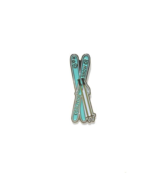 All Mountain - Coalition Snow Skis Pin