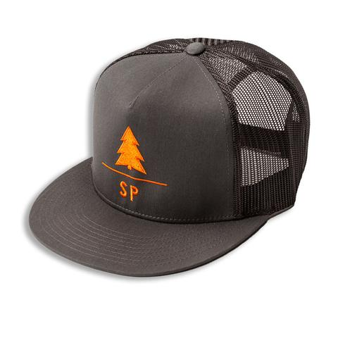Headwear - Soul Poles treeline snapback (charcoal/orange)