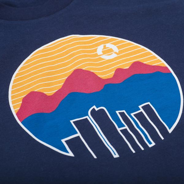 Tees - Concrete Coast Colorado Tee - Navy Blue