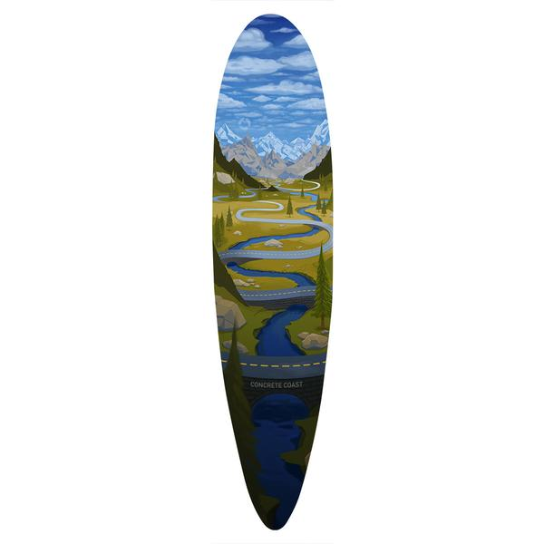 Clothing - Concrete Coast Artist Series Mountain Longboard
