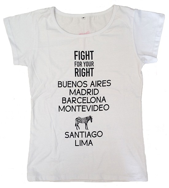 Mangas Cortas - Fight For Your Right Remera Cities