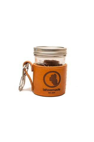 Travel - TAHOEMADE Hand-Made Leather Mason Jar Holder