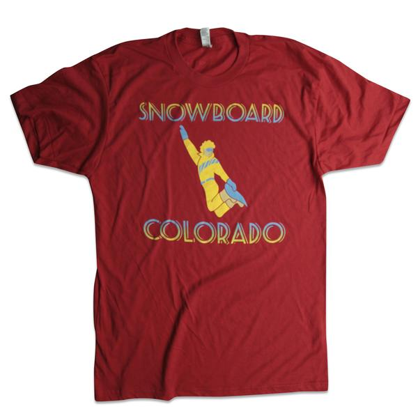 Tees - Kind Design Snowboard Colorado T-Shirt (Red)