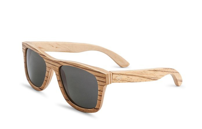 Bosky Optics Dundee Zebrawood Sunglasses Polarized Brown Lens