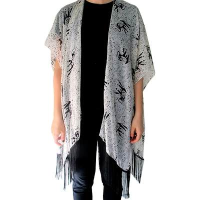 Fight For Your Right Fight For Right Pashmina Corte Poncho Estampada Kimono Elefa